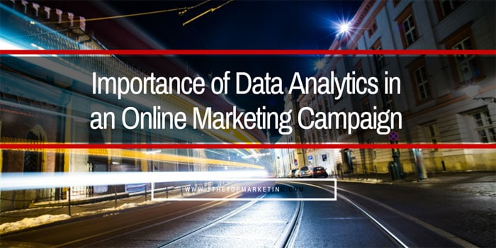The Strategic Importance of Data Analytics in an Online Marketing Campaign